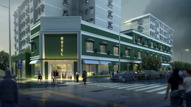 咖啡馆室外建筑设计效果图