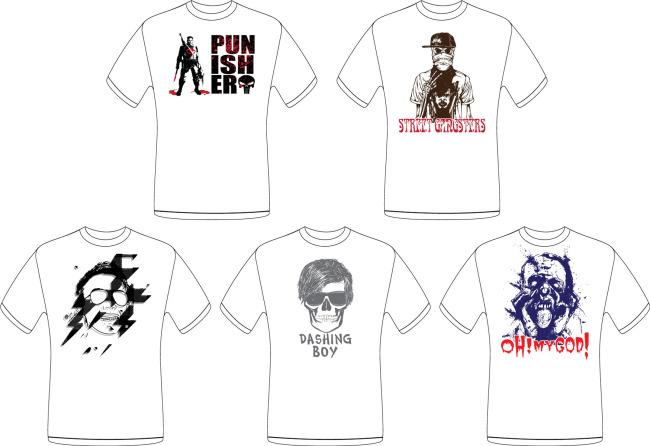 t恤衫 t恤衫图片 t恤衫模板 矢量图 t-shirt tee tshirt 衣服设计