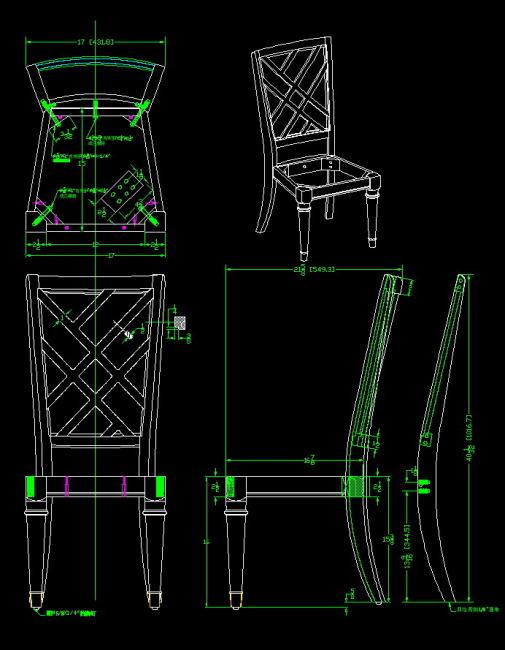 椅生产图纸图片下载 家具cad  生产图纸  工程图cad  欧式家具设计