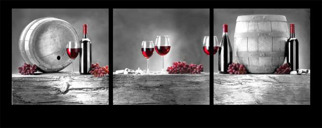 餐厅红酒无框画