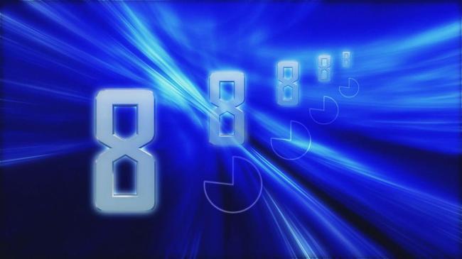 蓝色背景的多数字倒计时视频素材模板下载