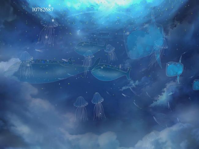 唯美海底世界动态背景视频素材下载