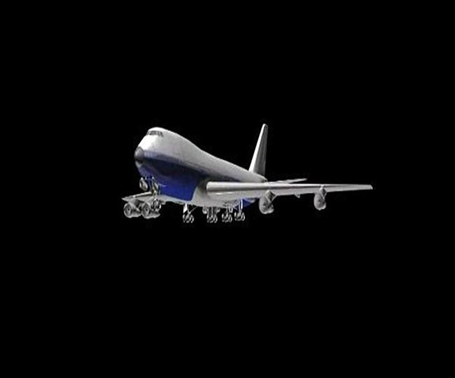 动态飞机飞翔粒子视频素材