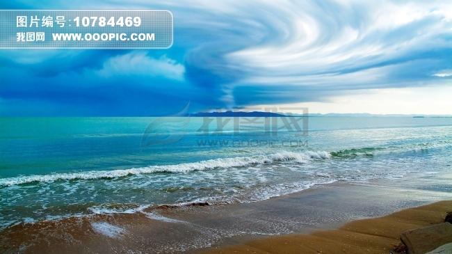 正版图片 景物|风景 水 > 唯美海边 蓝天白云  唯美海边 蓝天白云模板