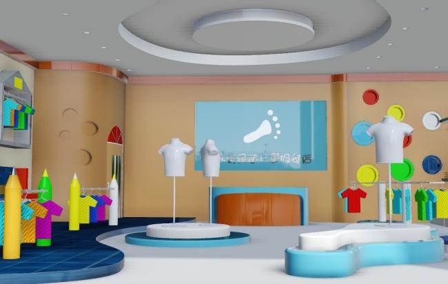 背景墙|装饰画 其他 展示设计 > 童装展厅源文件下载  下一张&