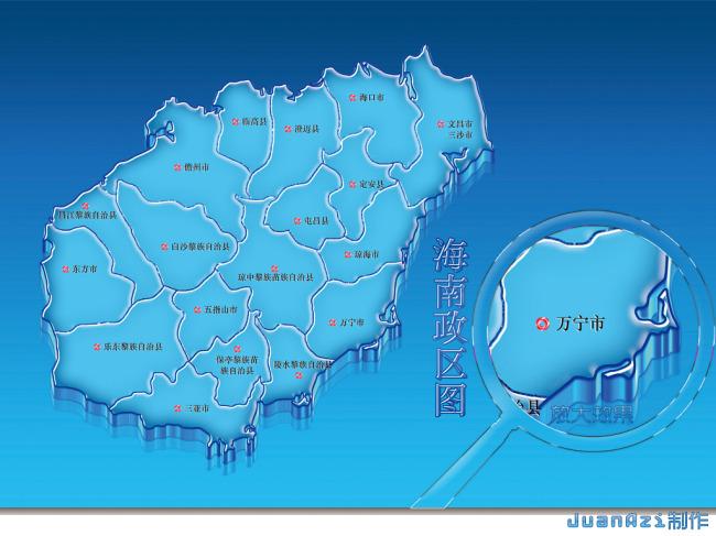 海南地图模板下载 海南地图图片下载
