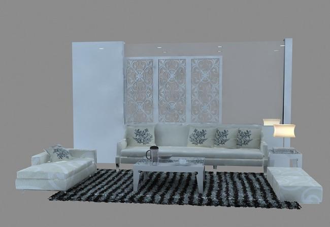 沙发/[版权图片]沙发模型