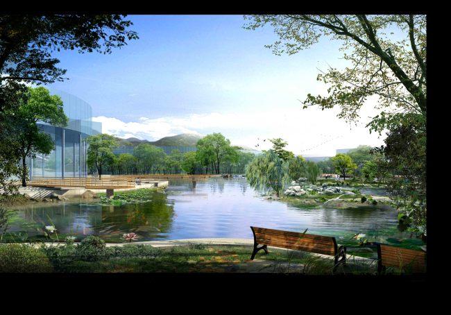 背景墙|装饰画 其他 园林设计 > 水景水岸广场景观分层效果图  下一张图片