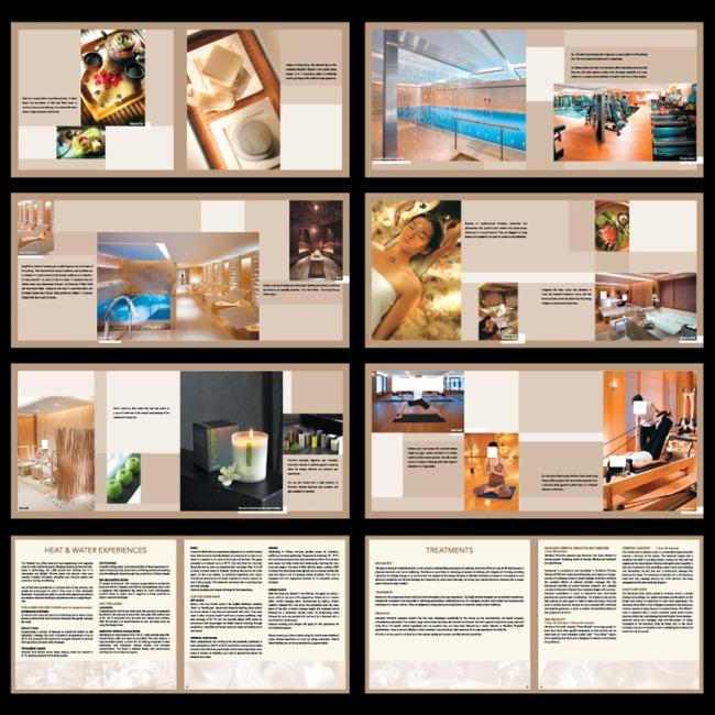 健身瑜伽馆画册宣传设计模板图片下载 健身瑜伽馆 世界国外版式高端图片