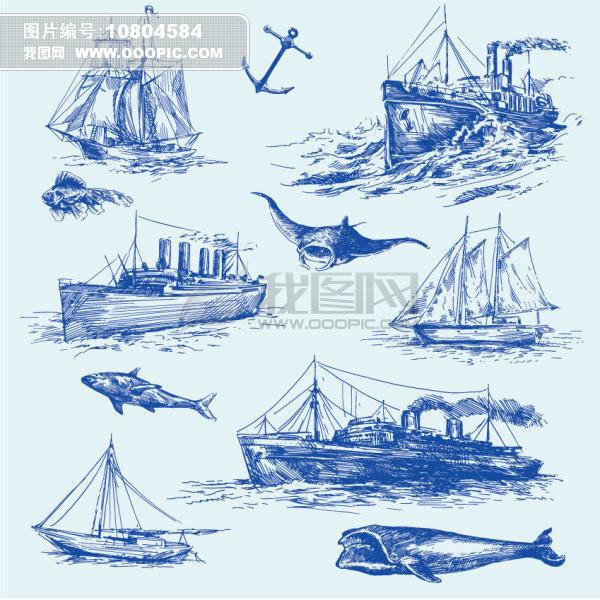 船平面手绘