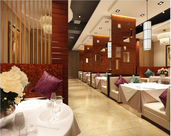 餐厅饭店室内效果图