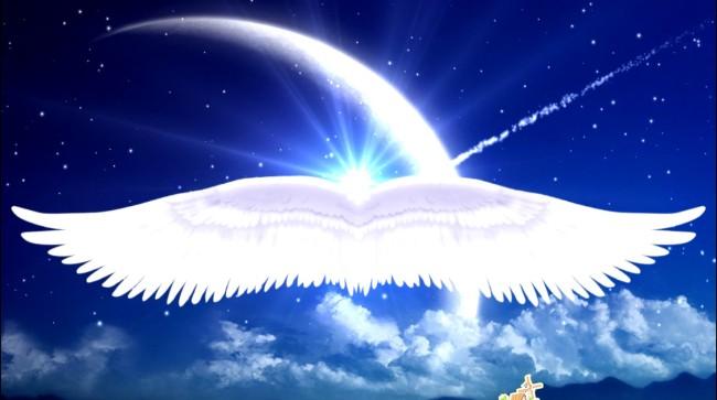 天使翅膀背景素材 矢量图