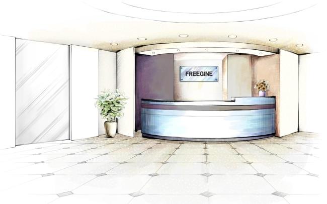酒店前台手绘设计效果方案