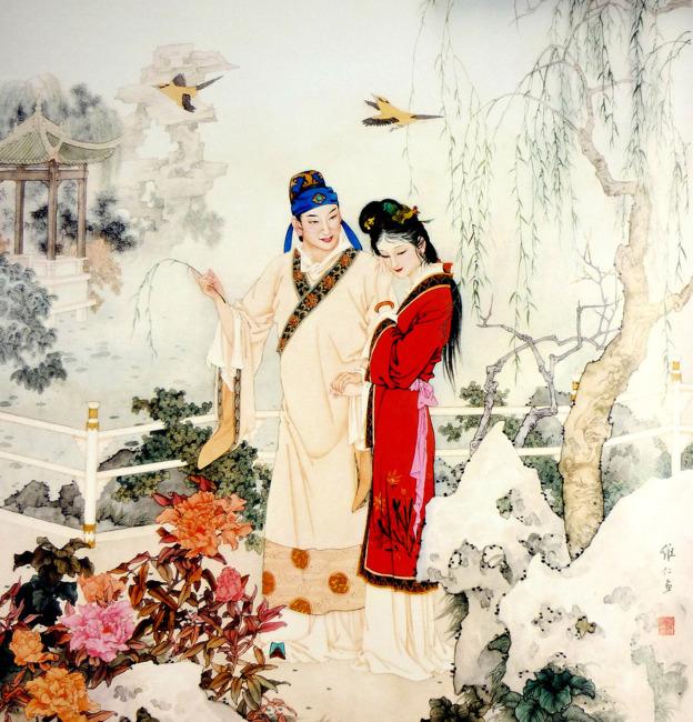 牡丹亭古代人物画