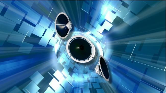 四个喇叭音乐栏目包装特效片头视频素材