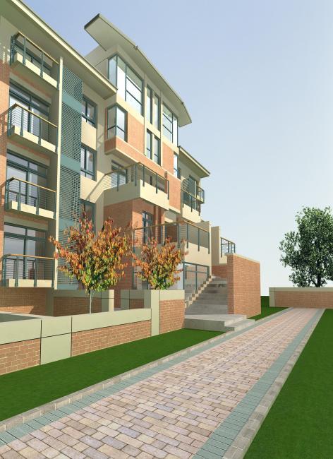 3d室外小区背景贴图