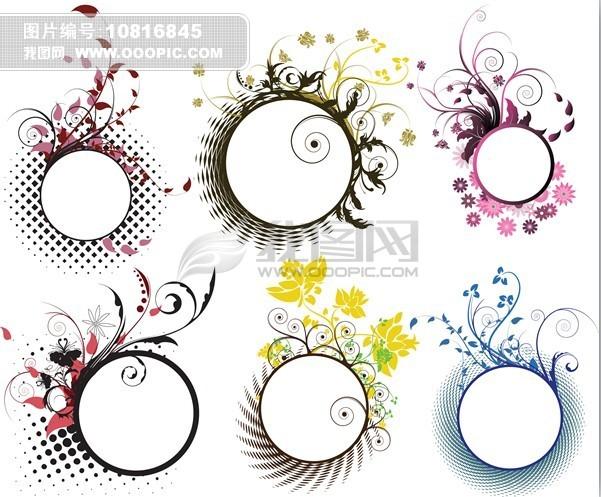 花纹边框矢量素材模板下载(图片编号:10816845)