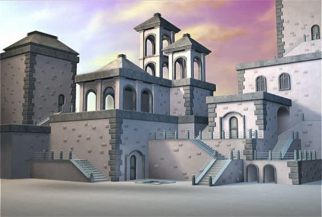 迪士尼卡通城堡3d城堡
