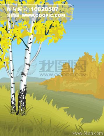 秋天树木模板下载(图片编号:10820507)