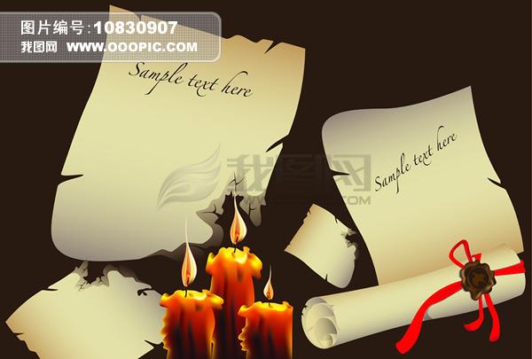 蜡烛燃烧古典信纸模板下载(图片编号:10830907)