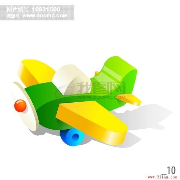玩具飞机模板下载(图片编号:10831500)