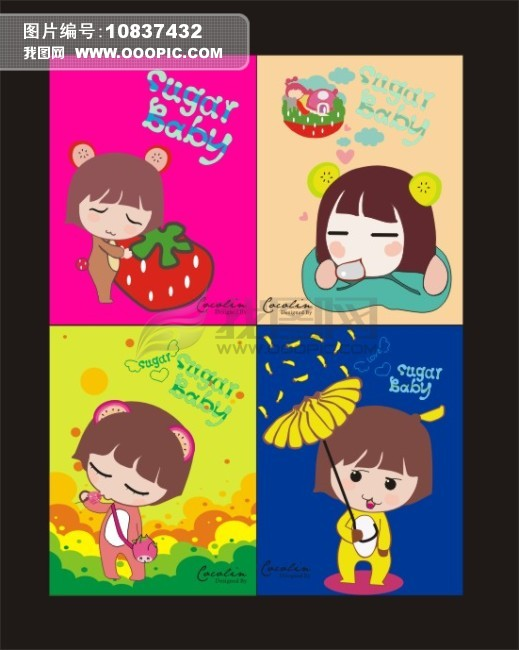 水果宝宝笔记本封面模板下载(图片编号:10837432)
