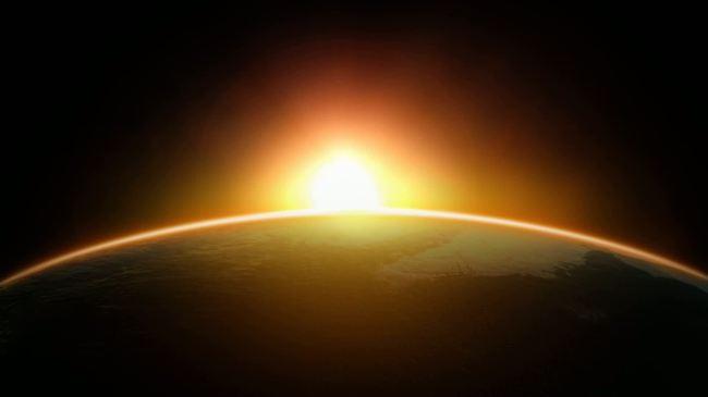 初升的太阳通用视频素材
