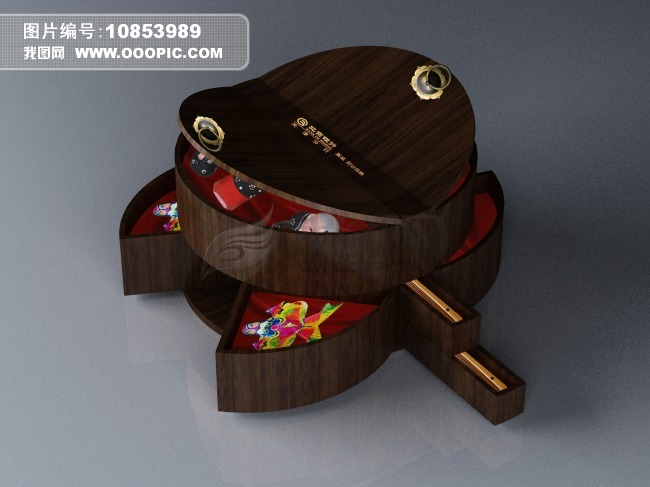 礼品包装盒圆形设计模板素材多开口