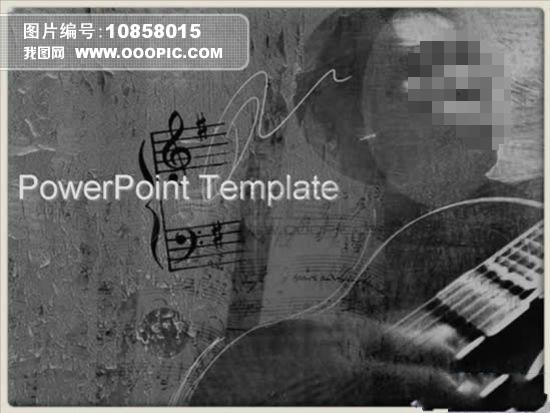 怀旧音乐艺术ppt幻灯片模板下载(图片编号:10858015)