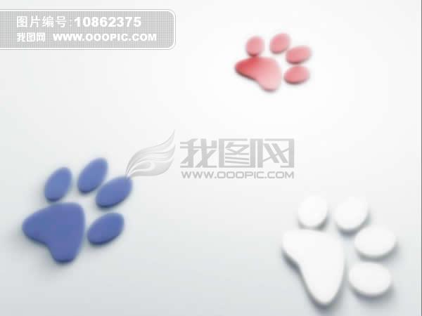 动物脚印卡通ppt模板模板下载(图片编号:10862375)