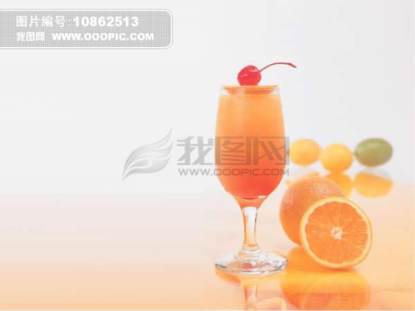 背景 ppt 鲜橙/鲜橙果汁淡雅背景ppt模板