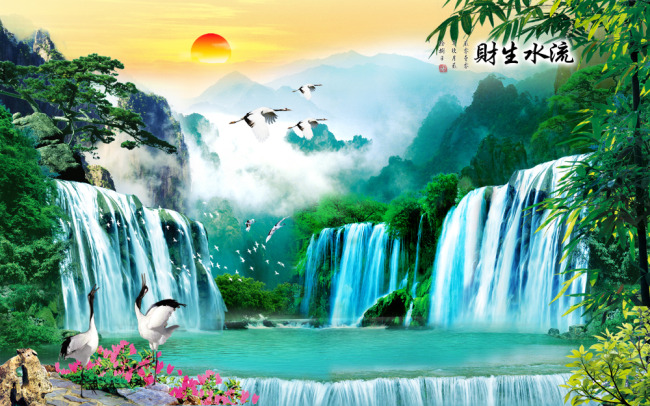 山水风景画