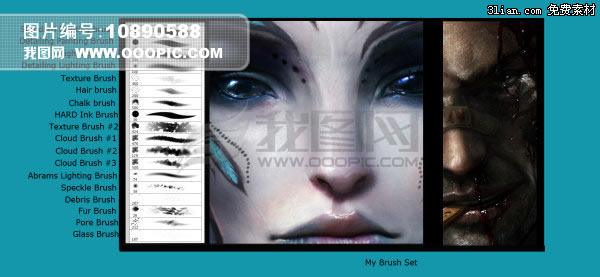 一套超强PS绘画笔刷模板下载 一套超强PS绘画笔刷图片下载