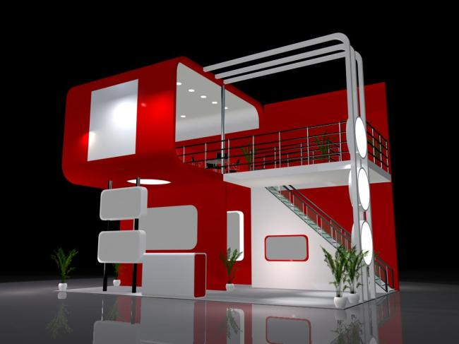 3d展厅展览设计 3d展示造型 3dmax 模型 灯光 三维设计 展会 立体建筑