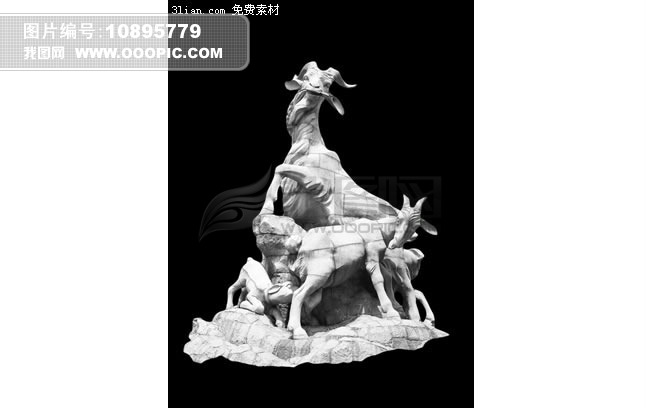 广州五羊雕塑psd素材