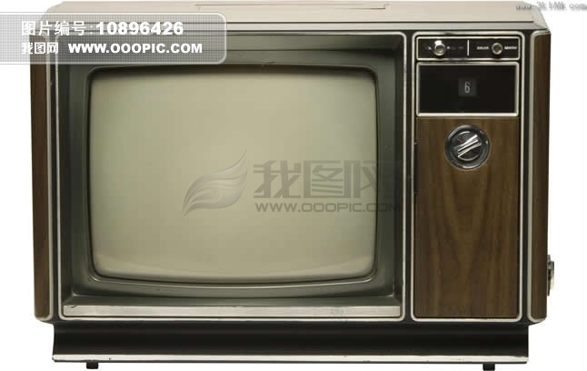 老式黑白电视机psd