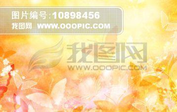 日本樱花蝴蝶扇子背景图片