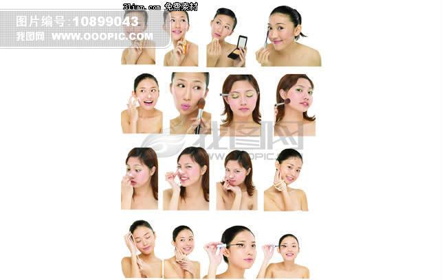 美白化妆系列人物PSD素材模板下载 美白化妆系列人物PSD...