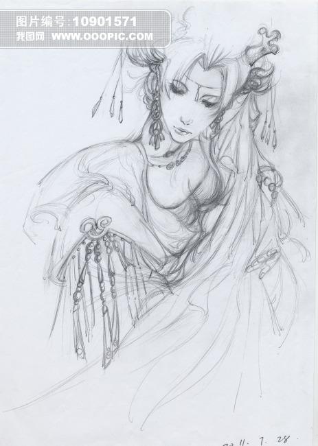 笔手绘古装人物