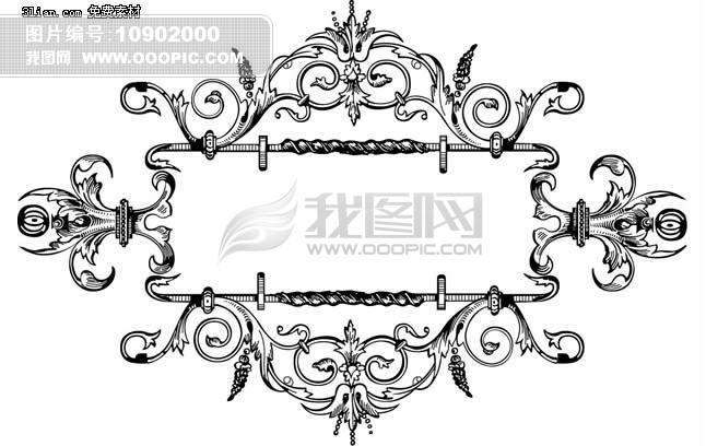 欧式花纹边框psd素材模板下载(图片编号:10902000)