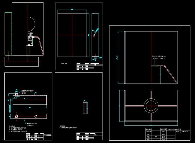 外销壁灯1比1生产图模板下载 10903286 其他CAD图纸 CAD图纸