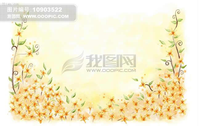 韩国手绘花卉psd素材模板下载(图片编号:10903522)