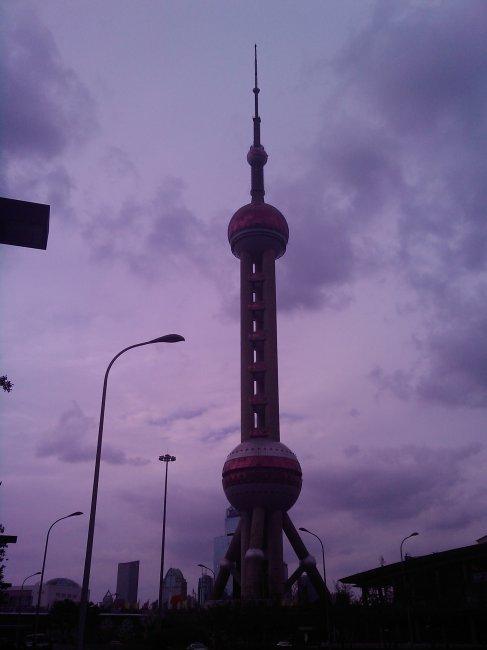 卡通上海东方明珠塔图片