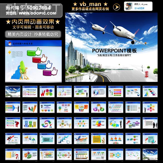 飞机航空公司机场城市发展建设动态ppt