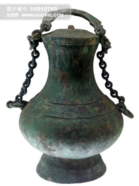 铜提梁壶青铜器考古发掘文物出土文物