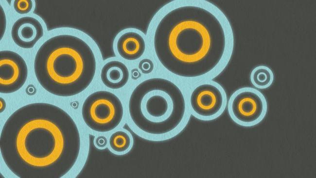 时尚动感圆圈动态视频素材