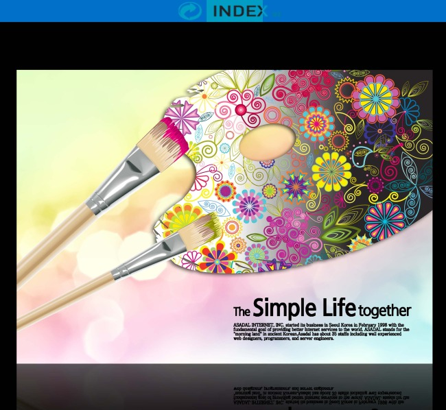动感绘画时尚艺术大气海报背景设计图片