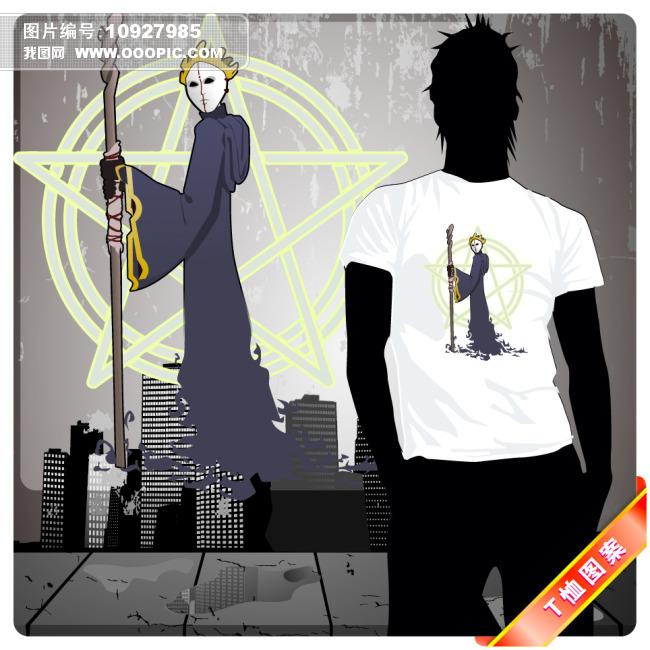 圣诞夜惊魂骷髅形象T恤图[版权图片]下一个上一个> 圣诞夜...