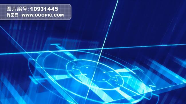 动态视频素材 > 蓝色光束照射背景素材