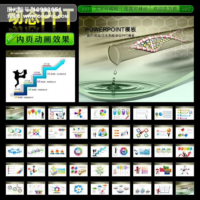 化学实验生物基因dna报告片会议ppt模板下载